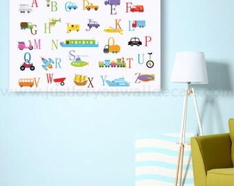 Alphabet Poster, Playroom Poster, Nursery Poster, Alphabet Nursery Art, Nursery Wall Art, Alphabet Art, Alphabet Wall Art, Poster  22-0049