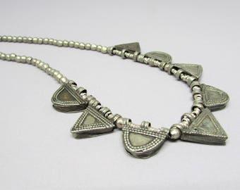 Boho Necklace - Beaded Necklaces - Short Necklace - Ethiopian Telsum - Tribal Necklaces - Beaded Jewelry