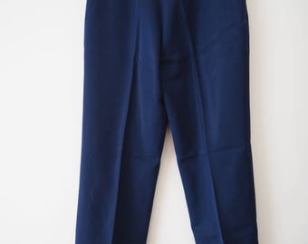Women's French La Painty Paris high waisted navy trousers S