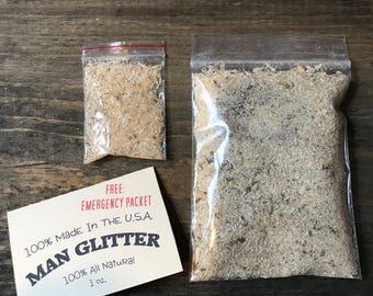 Man Glitter, Sawdust is Man Glitter, Stocking Stuffer, Gag Gift, Funny Gifts, Man Glitter Sawdust, White Elephant Gifts, Carpenters Gift