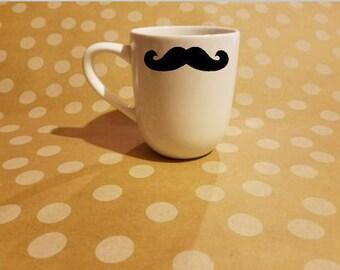 Mustashe coffee mug or mason jar - 5 options