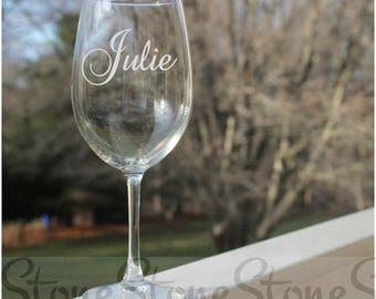 Personalized Wine Glasses, wine glasses with name, personalized wine glass with stem, Etched wine glasses, custom wine glasses