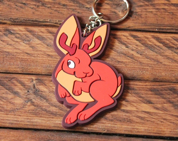 Cryptid Rubber Keychains - Jackalope