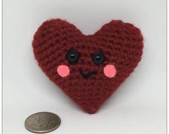 Amigurumi Valentine Heart Plush Crochet Toy