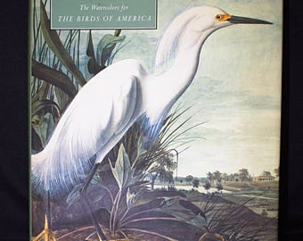 John James AUDUBON The Watercolors for The BIRDS of AMERICA Book  with Dust Cover - 1993 - N Y Historical Society