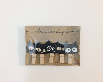 Wooden clothespins with Kittens   Stationery   Scrapbooking  