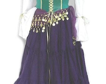 Esmeralda Costume 5 pieces Hunchback of Notre Dame Gypsy Cosplay Halloween