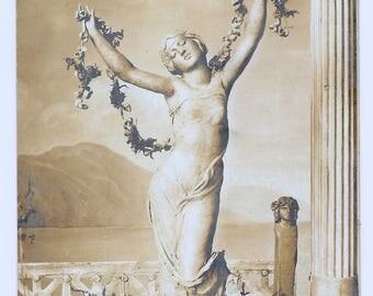Dancer of Pompei French Photo Postcard, c. 1910