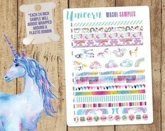 Unicorn Washi Tape, Rainbow Washi Tape, Blue Washi Tape, Purple Washi Tape, Unicorn Washi, Happy Planner, Erin Condren, Washi Tape Samples