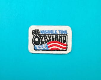 OPRYLAND Sew-on Patch Appliqué Nashville Tennessee Vintage Travel Souvenir Patch Iron-On