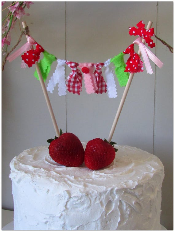 Strawberry Cake Topper Strawberry First Birthday Berry Party