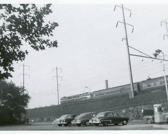 Vintage Original 1940s Photograph of a Train Moving along on its track B129 from the USA car