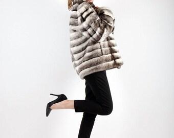 Real Fur Canadian |Cross Mink Jacket