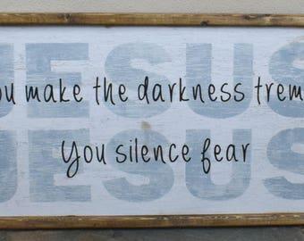 JESUS wood sign