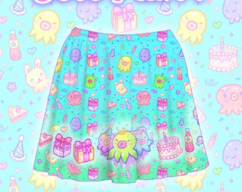 "Blue ""OctoParty"" Skirt"