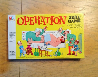 Vintage Operation Skill Game - Rare Smoking Doctor - 1965 Milton Bradley - Complete and Works!