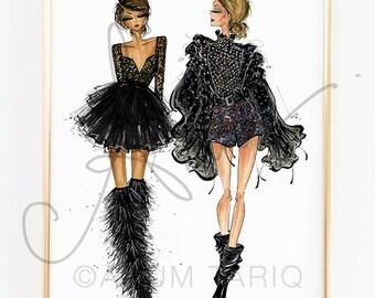 Fashion Illustration Print, YSL Spring 2018