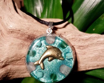 EMOTIONAL HEALING Orgone Pendant – Rose Quartz, Turquoise and Aventurine – Release the Past, Heal Negative Patterns and Habits - Medium