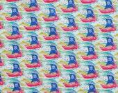 Liberty fabric Tana Lawn Samols - 5x10'' scrap blue/red  - Seasonal Collection,
