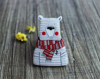 White bear gift|for|kids gift|for|boy animal lover gift kids jewelry birthday kids eco friendly childrens gifts baby gift childrens jewelry