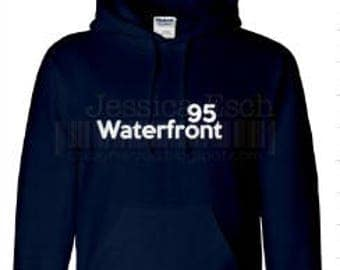 Waterfront 95 Custom Designed Sweatshirt~ Block Lettering