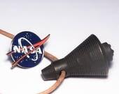 Mercury Space Capsule Pendant. 3d Printed Metal Jewellery.