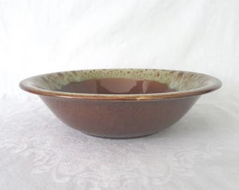 Canonsburg, Brown Drip Glaze Serving Bowl