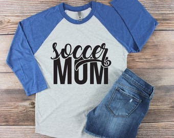 Soccer Mom Shirt/ Soccer Shirt/ Proud Soccer Mom/ Game Day Shirt/ Soccer Life/ Custom Soccer Shirt/ Soccer Number/ Goalie Shirt/ High School