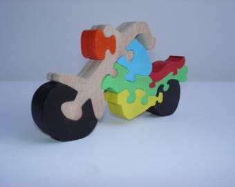 Puzzle motorcycle chopper eight pieces