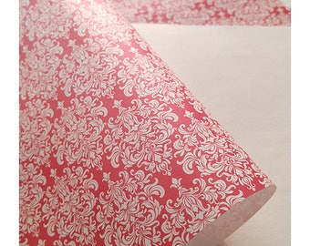 Exclusive dark red paper for wedding invitations Aurora Red 5 ps