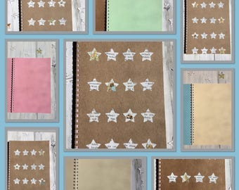 Set of 5 | Notebooks | VINTAGE | Beatrix Potter | STARS | Notepads | Party Favours | Back to School | Gift Idea | Handmade |