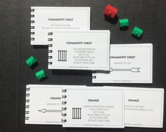 MONOPOLY | Set of 6 | Notebooks | Chance | Community Chest | Notepads | Party Favours | Gift Ideas | Blank Books | s