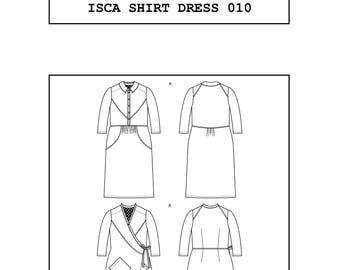 PDF Isca shirt dress sewing pattern