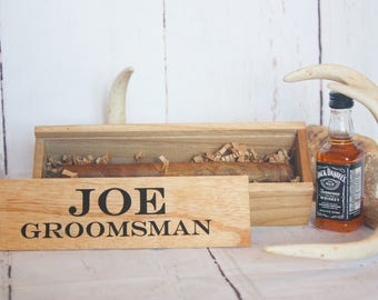 Groomsman Gift Best Man Gift Cigar Box Bridal Party Gift