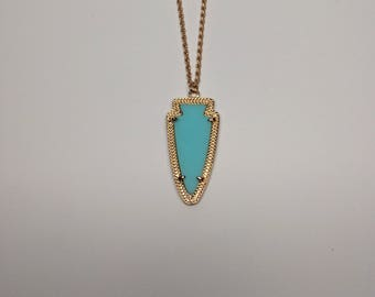 arrow necklace gold, arrow necklace, gold arrow necklace, arrow jewelry, arrow pendant, arrowhead, arrowhead necklace, turquoise necklace