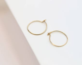 Small Wire Hoop Earrings  // Hoop earrings