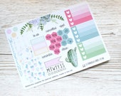Succulent Mini Happy Planner Weekly Kit; Vinyl Planner Stickers; Mambi; Decorative Stickers; Checklist Stickers; Personal Weekly Kit