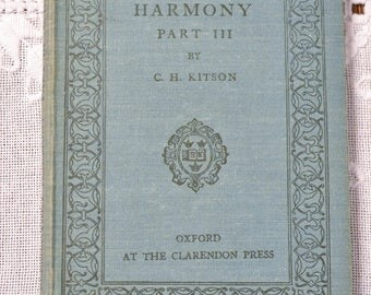 Elementary Harmony Part III Kitson Vintage Music Book Hardcover 1947 Old School Book PanchosPorch
