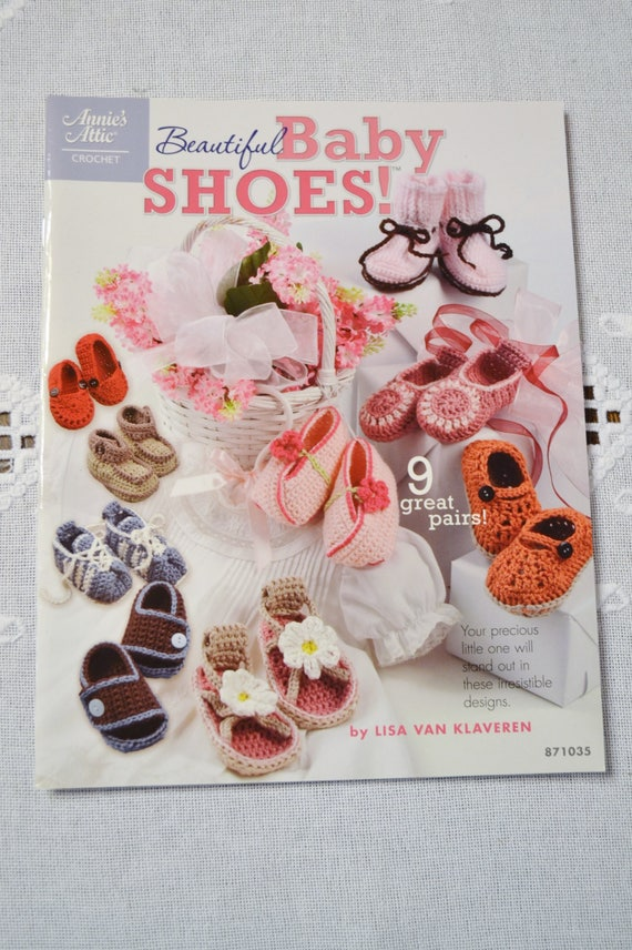 Annies Attic Beautiful Baby Shoes Crochet Instruction Pattern