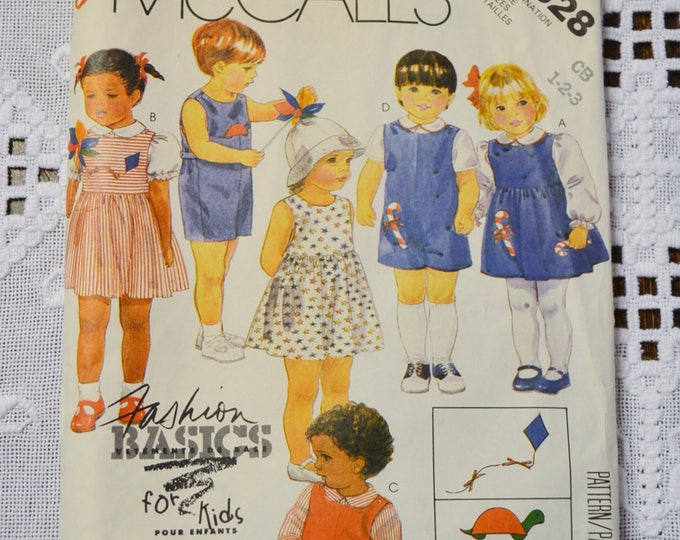 Vintage McCalls 2828 Sewing Pattern Toddlers Basics Shorts Dress Romper JumpsuitSize 1 2 3  Crafts  DIY Sewing Crafts PanchosPorch