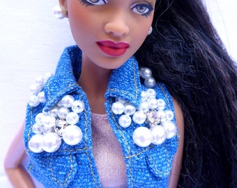 "Ooak barbie doll ""SEAPUNK"" AA PEARL"