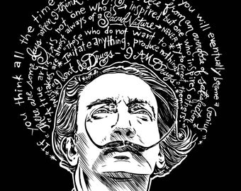 """Salvador Dali Artist Saint 8""""x 10"""" Print- Free Shipping in US for a Limited Time!"""