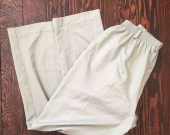 vintage high waisted blue trousers
