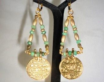 Flawless Etruscan Inspired Emerald Earrings***.