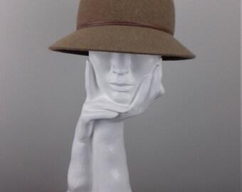 Elegant cloche hat suitable for Cheltenham Races or everyday winter wear