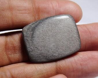 Beautiful Silver Sheen Obsidian Cabochon 28x22x5 mm - Silver Sheen Gemstone