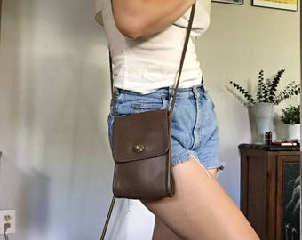 Vintage Coach Bag | Taupe Leather Crossbody