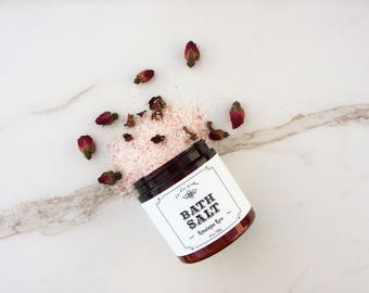 Himalayan Pink Rose, Bath Salt Soak - Unique Gift for her