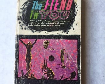 1962 FIEND IN YOU Richard Matheson Ray Bradbury William Nolan Charles Beaumont paperback book