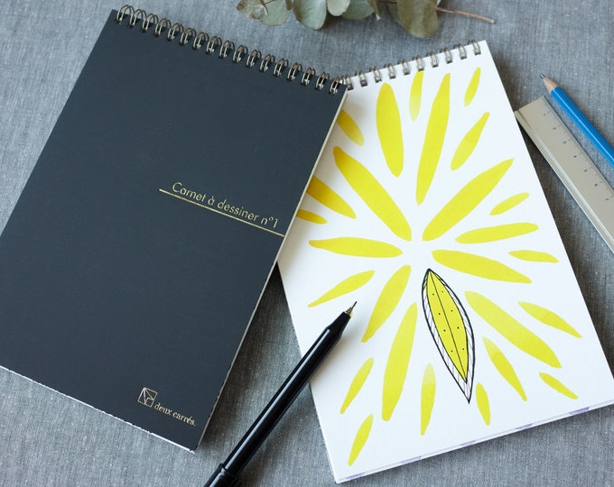 Draw It Yourself Sketchbook / Watercolor patterns for creative people to draw over / Add drawing, doodle or calligraphy